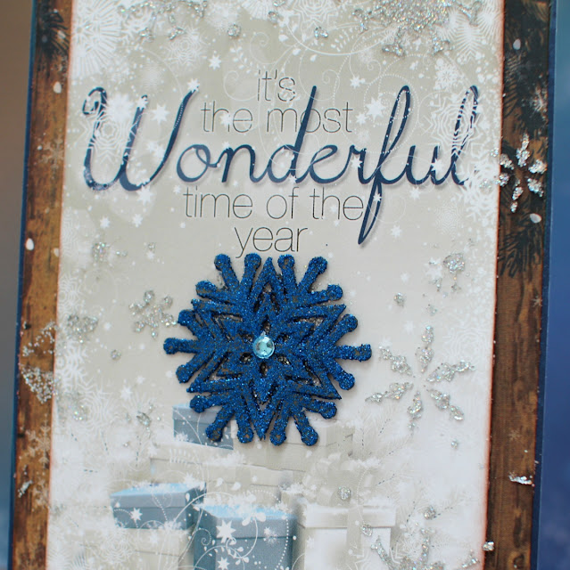 Wonderful Card by Ilene Tell using BoBunny Sleigh Ride Collection