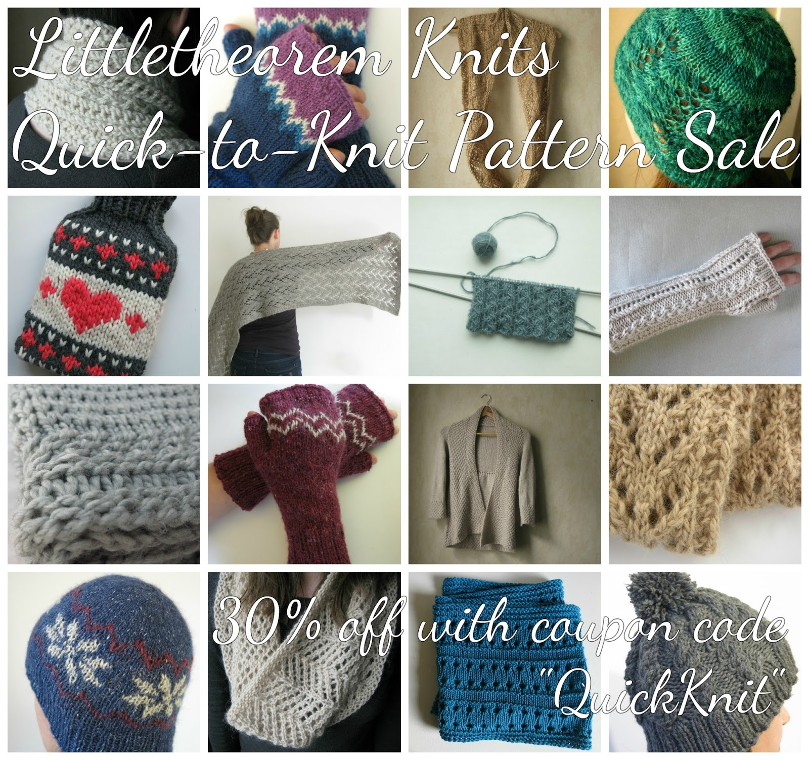 Knitting Universe Coupon Code : Littletheorem quick knits sale and a chunky cowl pattern