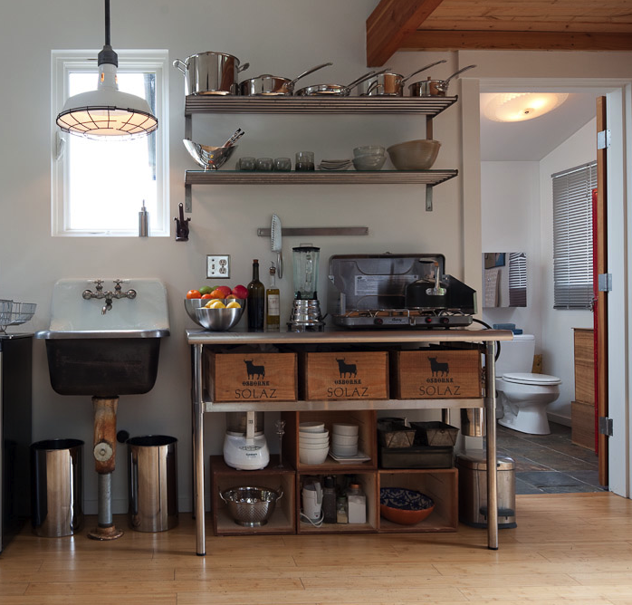Living the anthropologie way of life how to go for Industrial chic kitchen designs