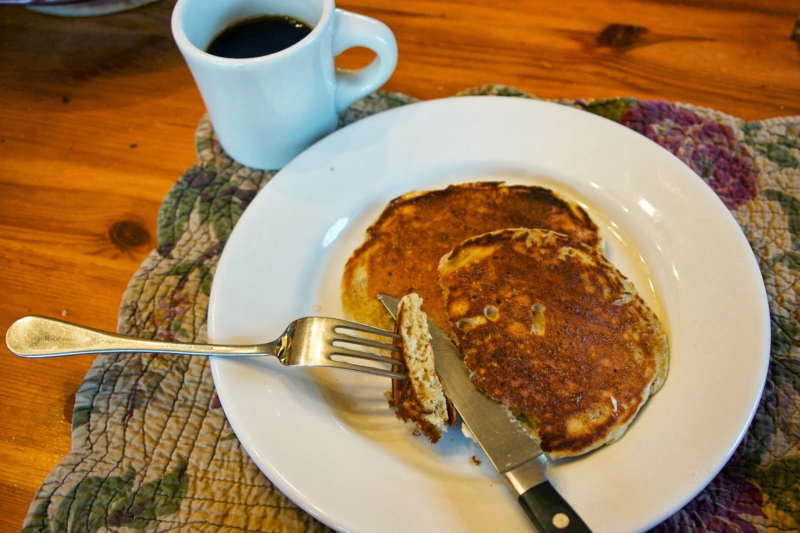 Whole Grain Pancakes: simplelivingeating.com