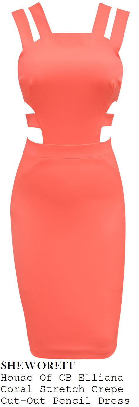 vicky-pattinson-bright-orange-coral-sleeveless-cut-out-bodycon-pencil-dress
