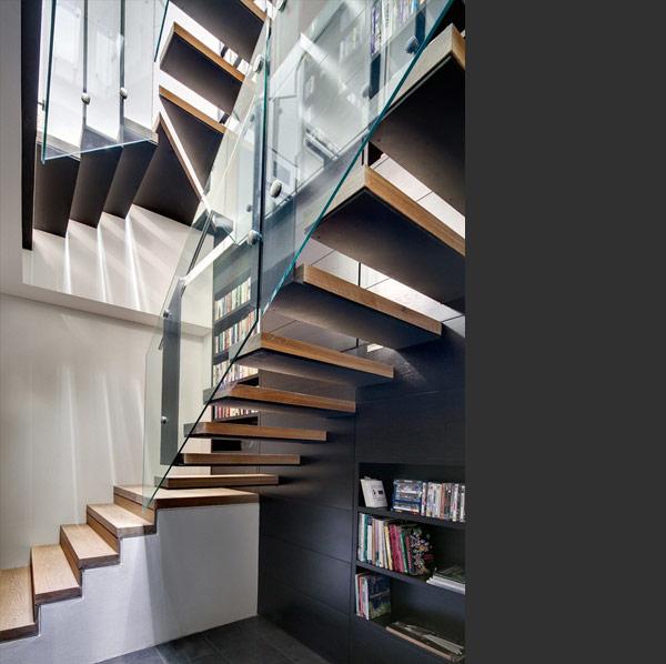choisir l 39 escalier esprit loft. Black Bedroom Furniture Sets. Home Design Ideas