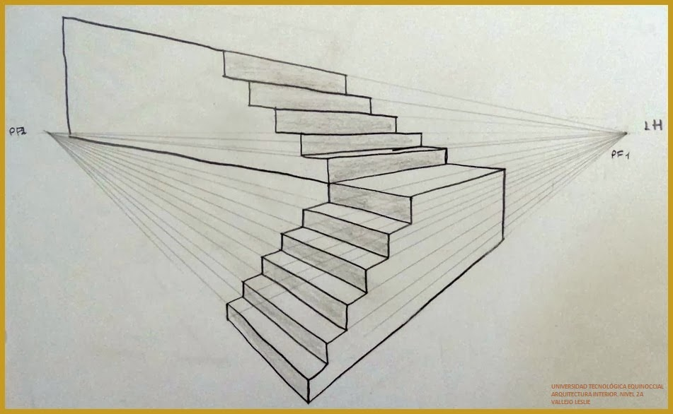 Leslie Vallejo Bocetos Luz Y Sombra Tipos De Escaleras