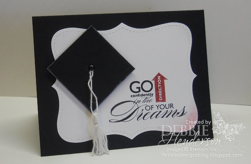 Create a graduation card by using a sentiment as you focal image. That  title=