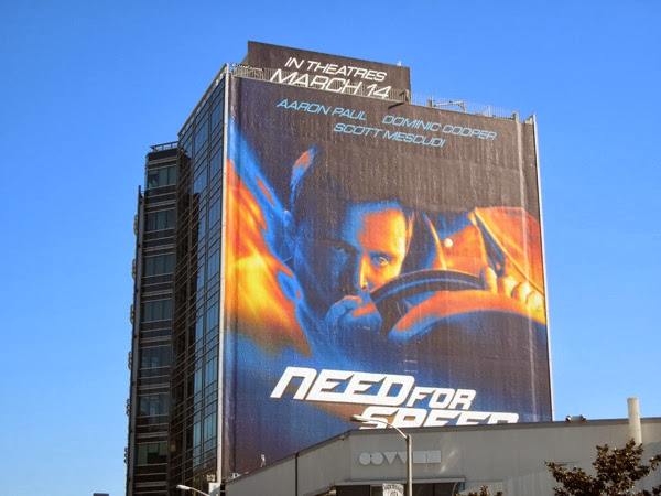 Giant Need For Speed film billboard