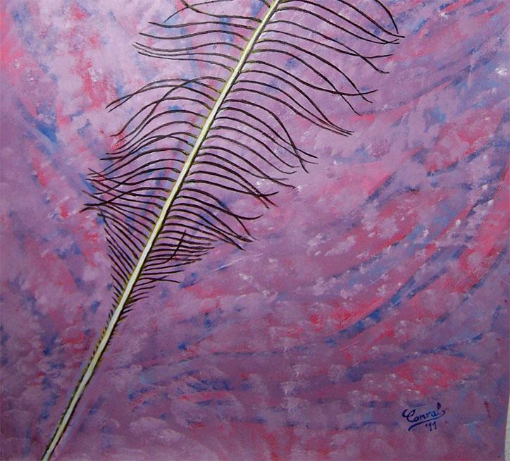 Sue os que despiertan pluma pintura acr lica al agua - Pintura acrilica al agua ...