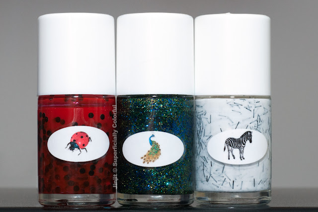 The Nail Junkie Animal Collection Lady Bug Peacock Zebra