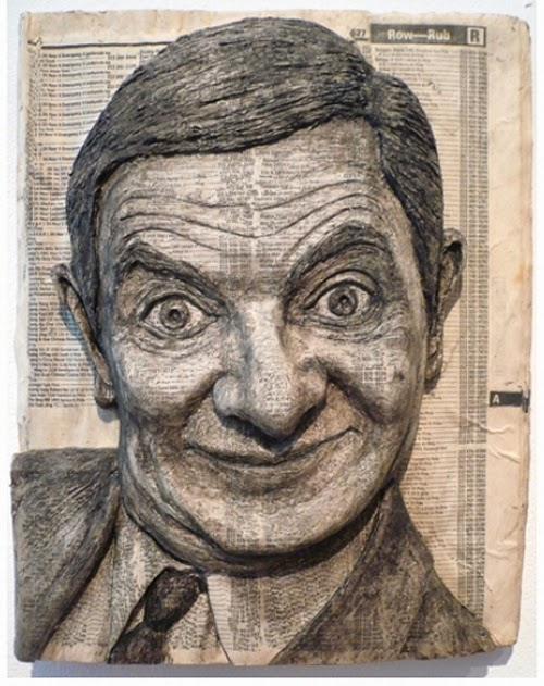 10-Mr-Bean-Phone-Books-Sculpture-Carving-Cuban-Artist-Alex-Queral-WWW-Designstack-Co