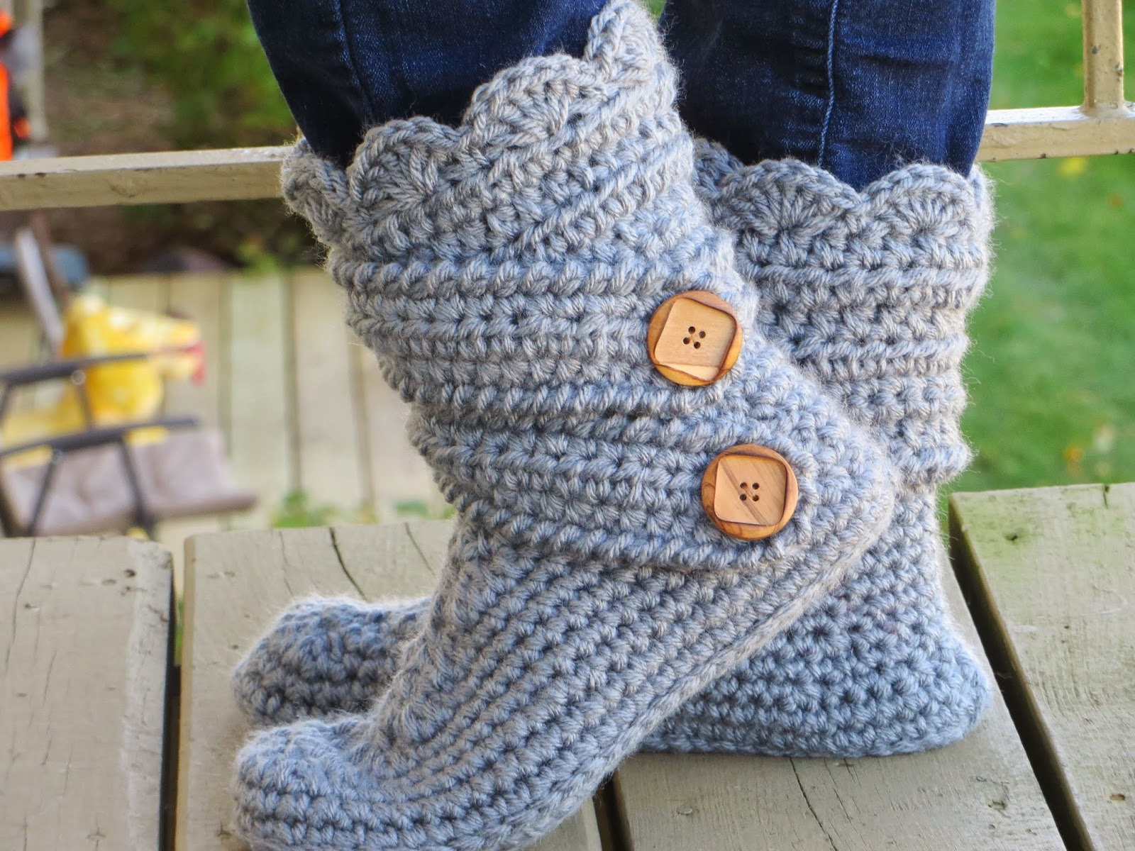 Crochet Dreamz: Womans Slipper Boots Crochet Pattern ...