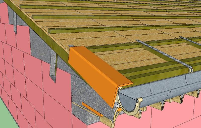Projet de construction d 39 une toiture traditionnelle r gion - Comment poser des tuiles canal sur liteaux ...
