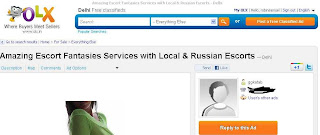 Escort Services - Local and Russian - Offered through Olx.in