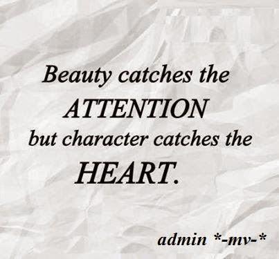 Beauty vs Character