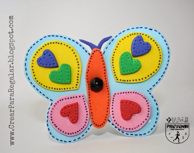 mariposa goma eva
