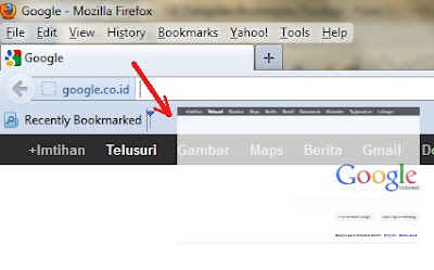 mendrag situs ke bookmark toolbar