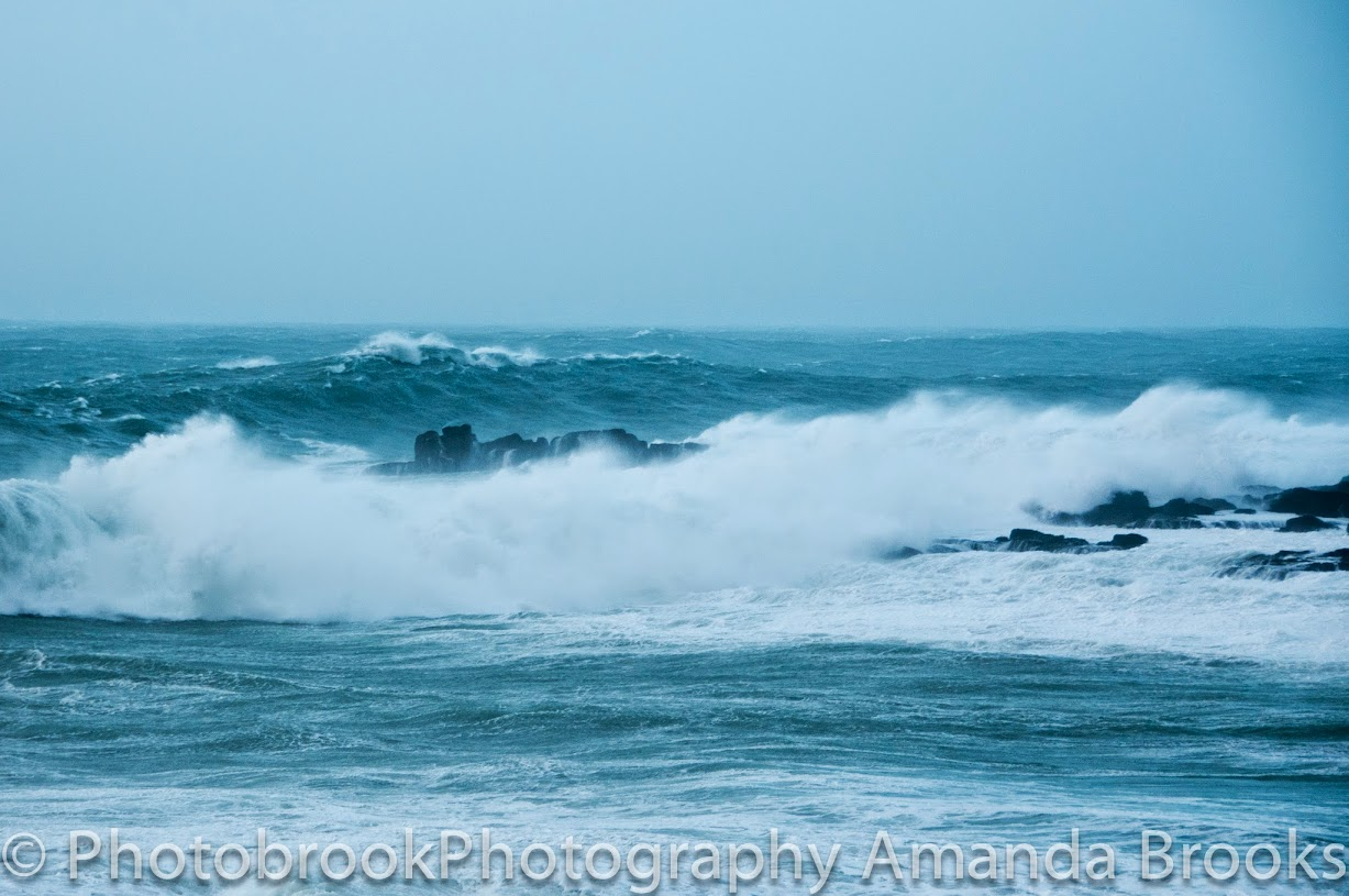 Sennen storm waves