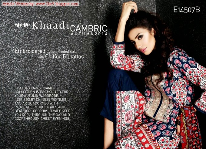 Khaadi Winter Fall Dress Collection 2014