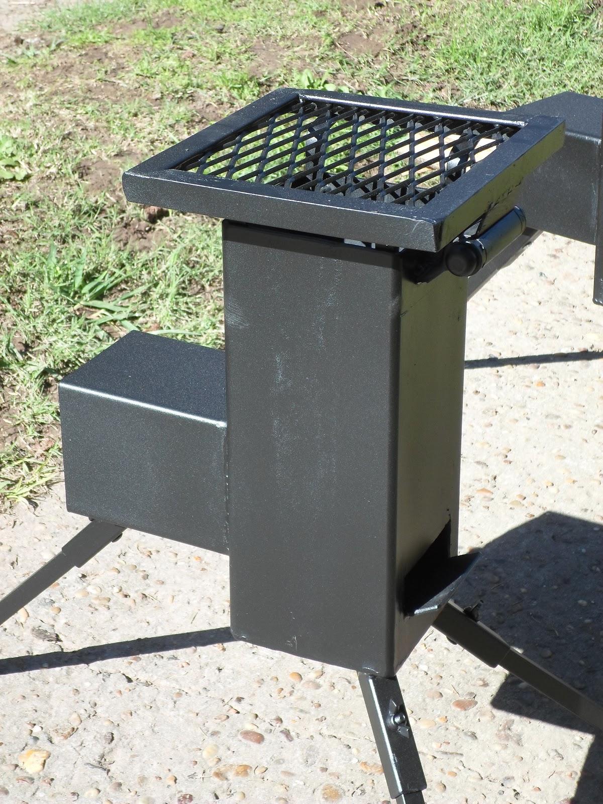 Ecococina calentador cocina de camping asadores for Asador de ladrillo para jardin