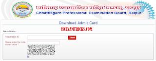 CGVyapam Admit Card 2015