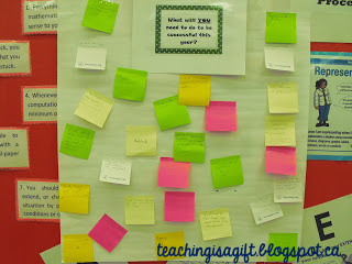 Photo of Back to School with Post Its @teachingisagift.blogspot.ca