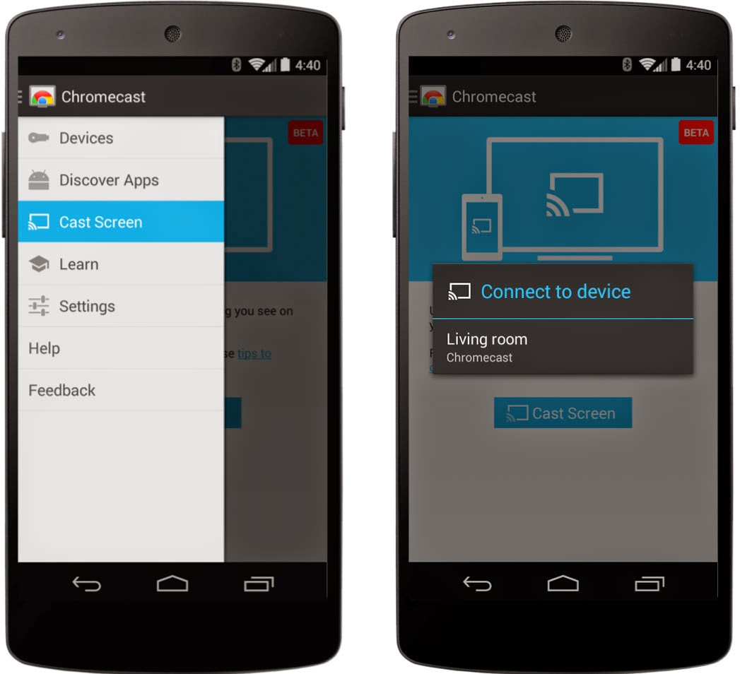 Phone Stream From Phone To Tv Android google chrome blog mirror your android screen to the tv with chromecast