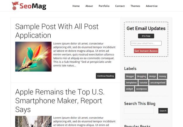 Chia sẻ Template Blogspot Seo Mag
