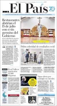 07/07/2020   COLOMBIA  UNA  PRIMERA PÁGINA DE LA PRENSA
