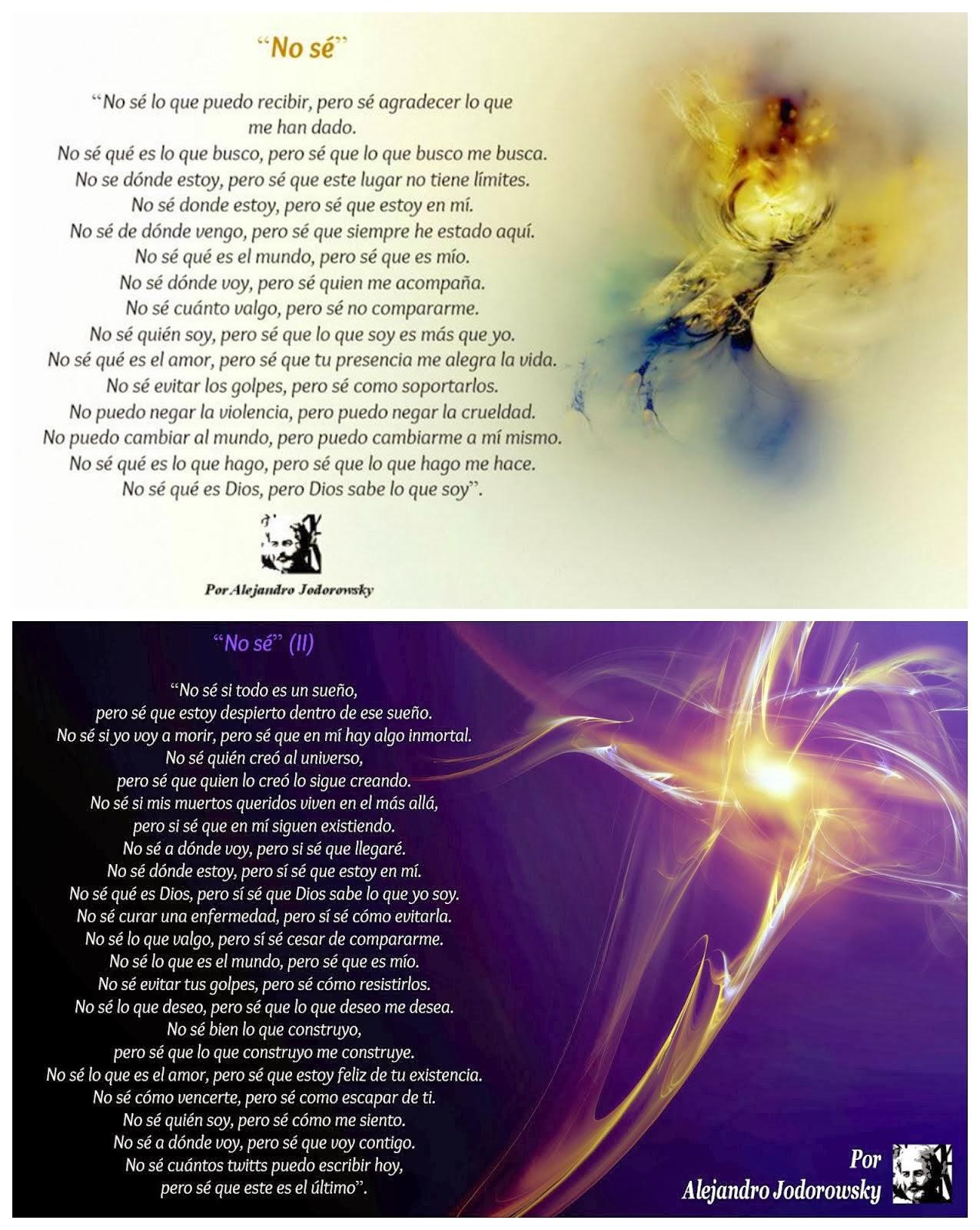 """""""No sé"""", Dos Poemas De Alejandro Jodorowsky Germinados En Twitter (I & II)"""