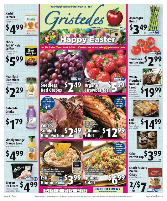 CHECK OUT ROOSEVELT ISLAND GRISTEDES Products, Sales & Specials For April 19 - April 25