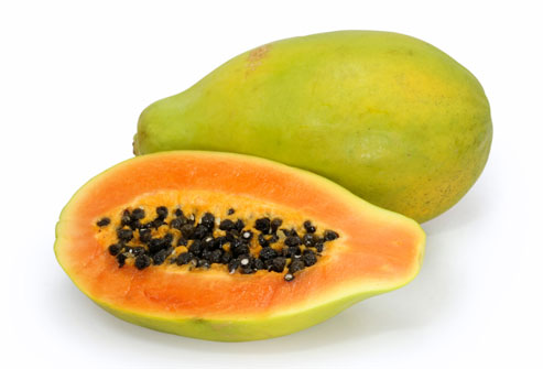 how to clean a papaya