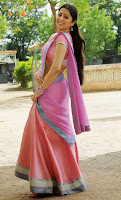 Cute, Charmi, In, Half, Saree