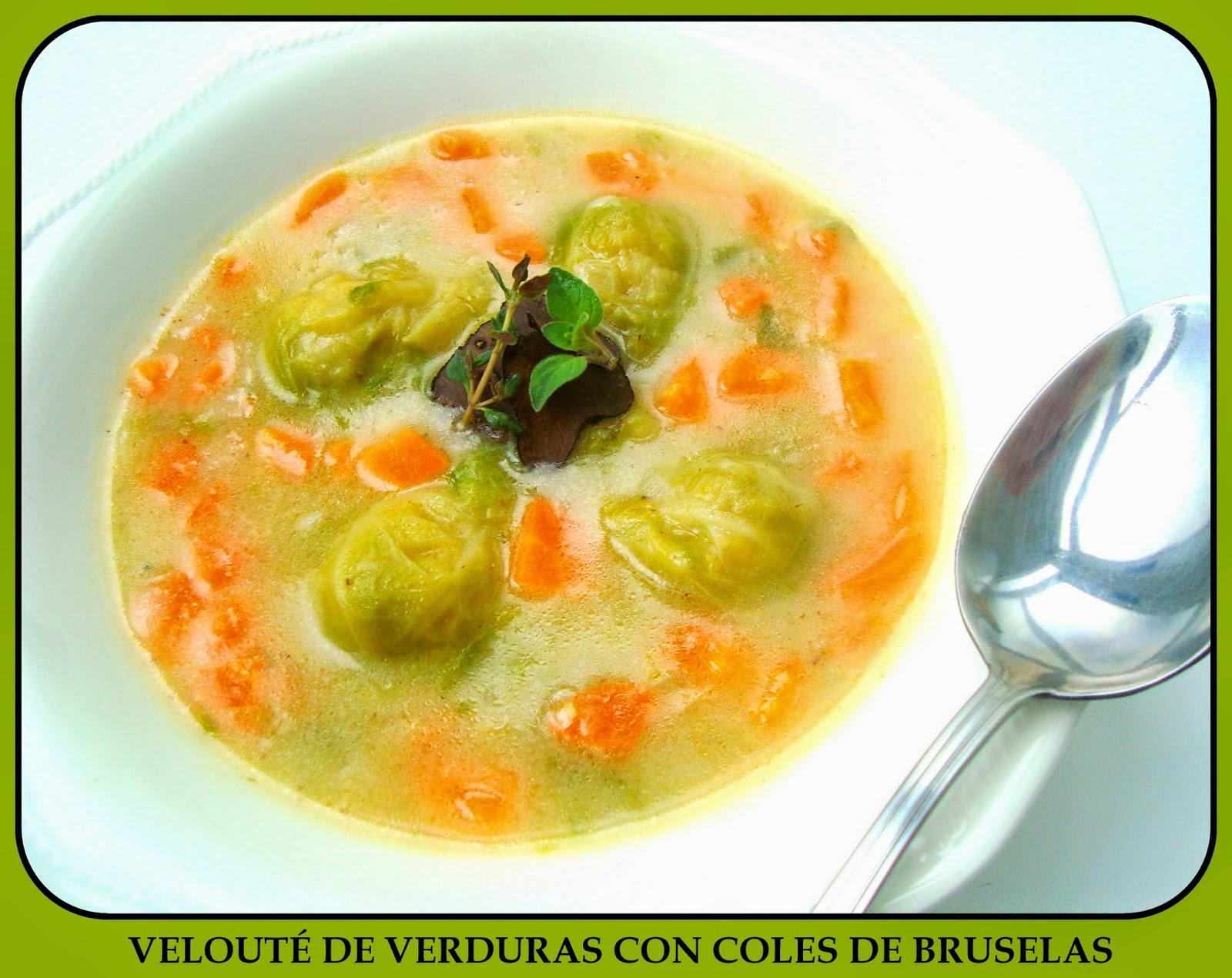 Blog De Cocina Sana | Mis Recetas Anticancer Veloute De Verduras Con Coles De Bruselas