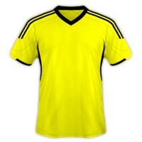 Desain Jersey Gratis Sepakbola dan futsal kuning hitam