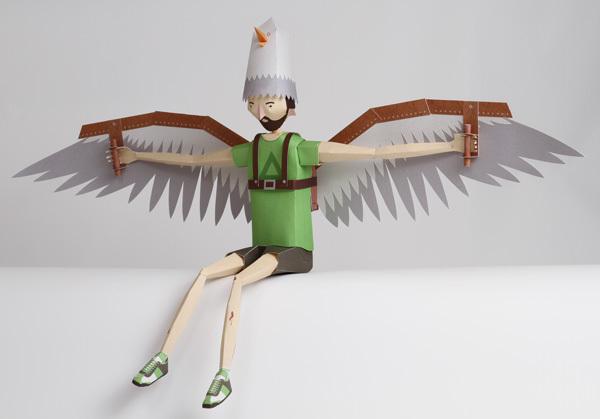 Arthur muñeco de papel de Paul Mullen, paper character