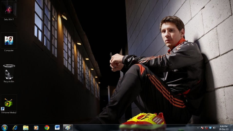 Use Messi Barcelona theme for desktop
