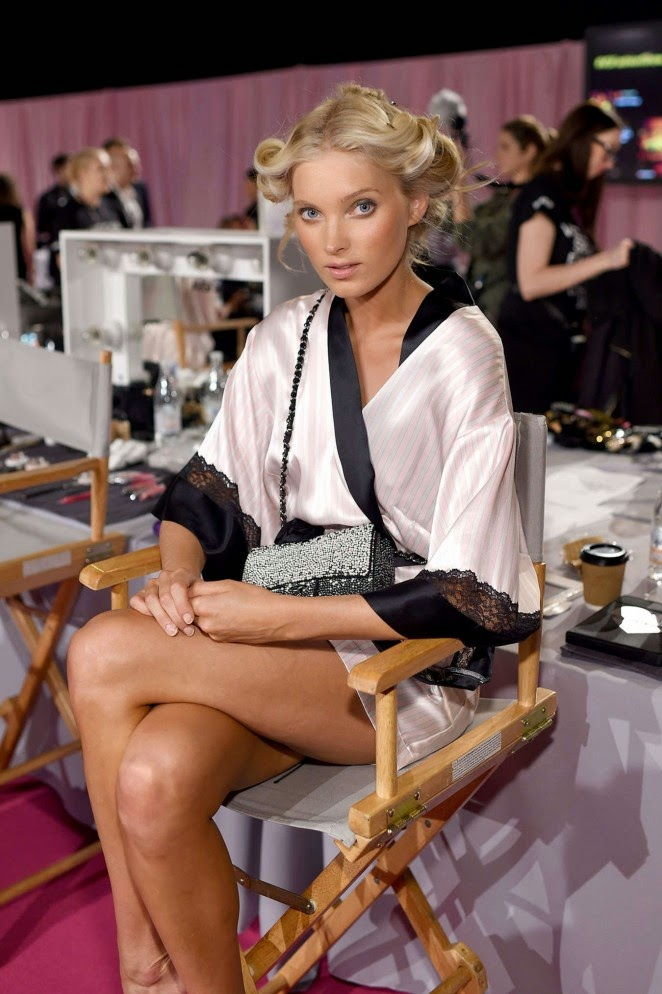Elsa Hosk – 2014 Victoria's Secret Show Backstage in London