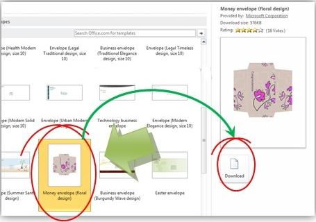 Gambar: Membuat amplop uang baru di microsoft word 2010