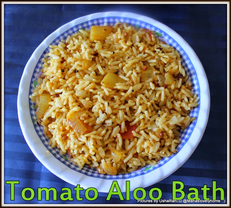 This Is A Simple Rice Which Combination Of Potato And TomatoYou Can Any Vegetables Your Choice If You LikeInstead Regular White Ricethis Kind