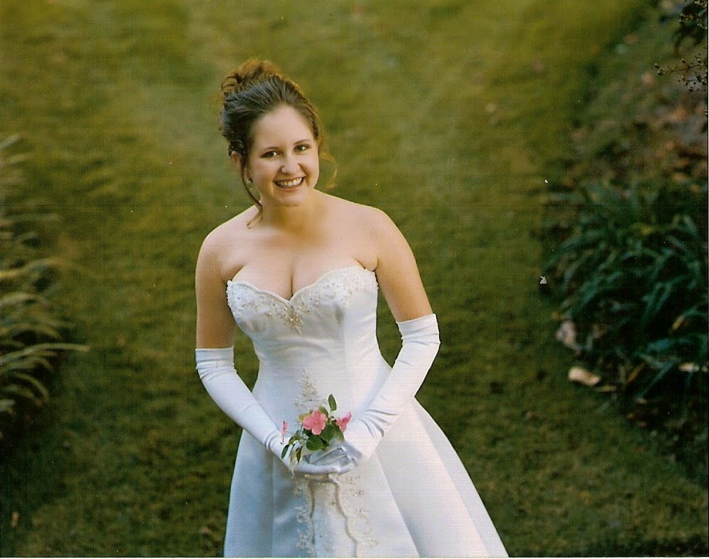I wore a floor-length, formal wedding dress to my debutante ball