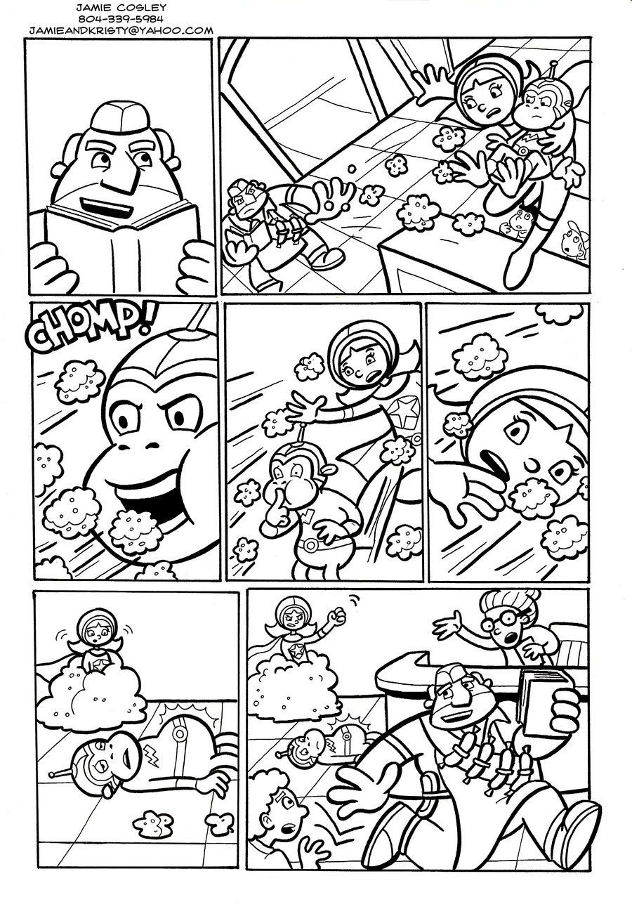 word up its word girl - Word Girl Coloring Pages