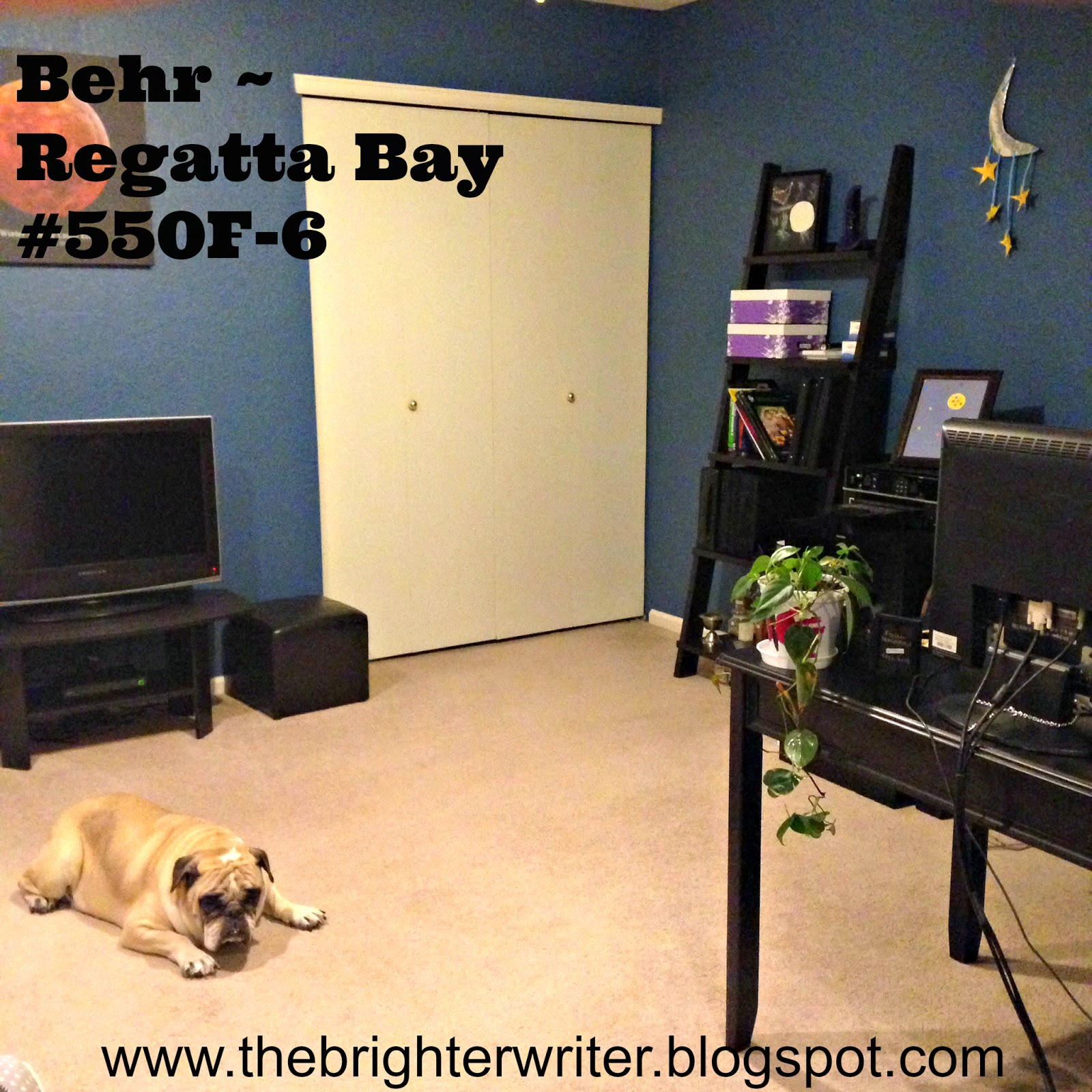 Behr - Regatta Bay #550f-6 Home Office Space www.thebrighterwriter.blogspot.com