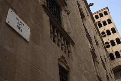 La Plaça del Rei in the Barcelona Gothic Quarter