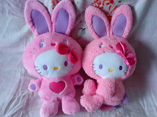 Hello Kitty soft plush toy in bunny costume