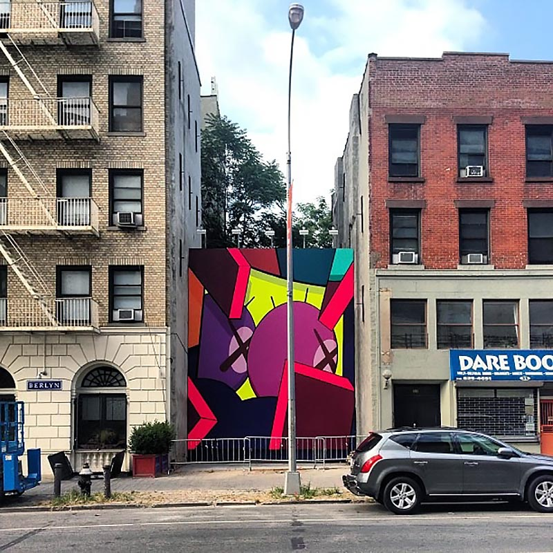 Kaws new mural in brooklyn new york city streetartnews for Art and craft store in brooklyn ny