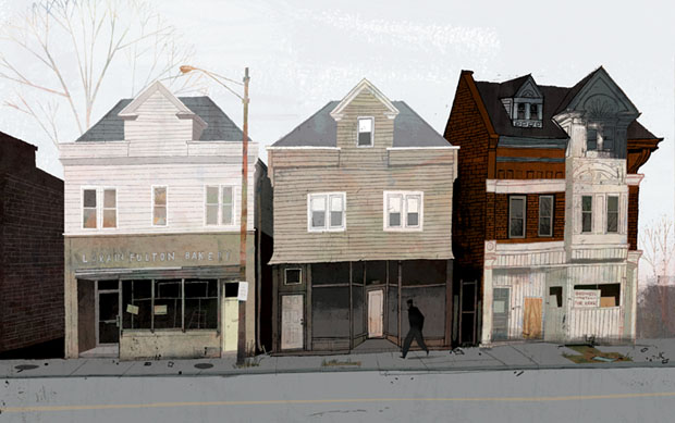 Jamey Christoph, ilustracion, illustration, washington, US, casas
