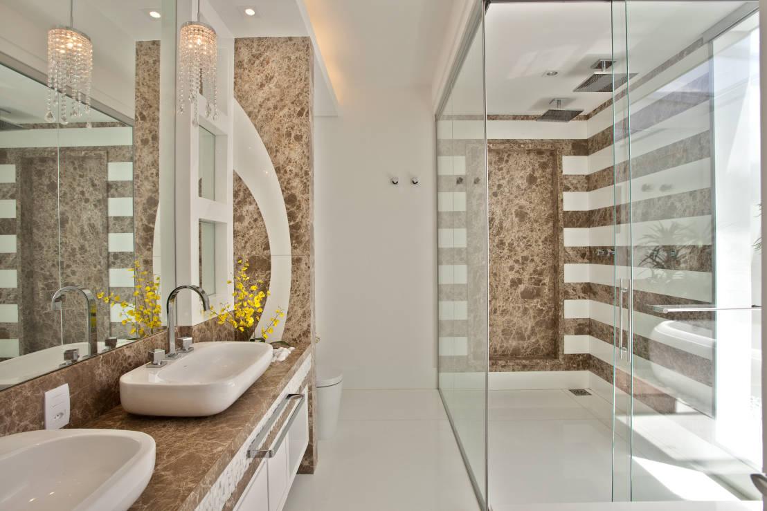 Construindo minha casa clean banheiros lavabos modernos - Idee bagno design ...