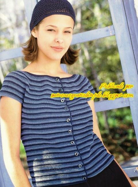 Blusa de dama mangas cortas con botones