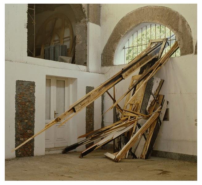 """Kuno Lindenmann, Rauminstallation, """"Ucronia"""", 33 Europäische Künstler, Arsenale Turin/Italien, 1987"""