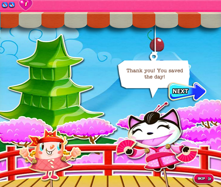 Candy Crush Saga 366-380 ending