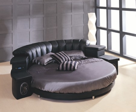 modern black and gray bed is magnificent design and beautiful cushion