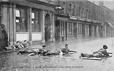 Scots Guards at the Sidney Street Siege